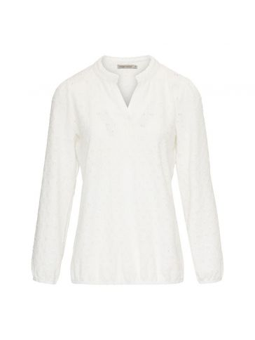 Dreamstar Top tricot broderie Wit